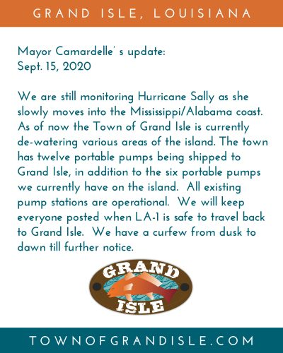 Mayor Camardelle's update- Sept. 15, 2020